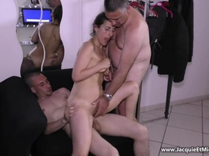French Mature Couple Threesome