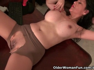 Milf April White gets naughty..