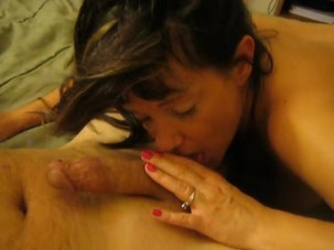 Cougar blowjob