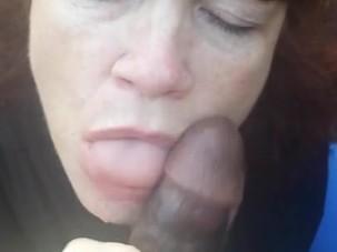 Mature Nurse sucks BBC
