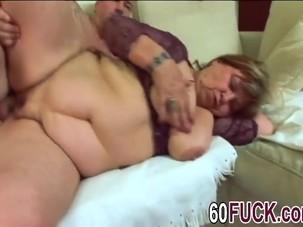Chubby GILF Spreads Legs And..