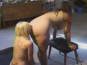 Chubby lesbian woman attacks..
