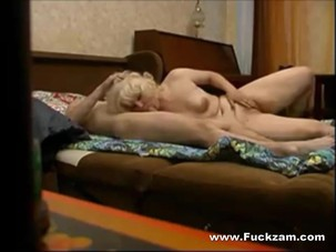 Chubby Blonde Mature Hooks Up..