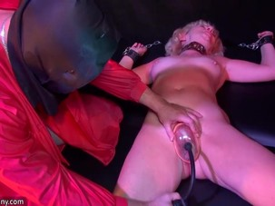 Old women in a BDSM session