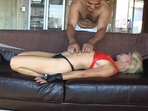 Mature Robyn Bound And Tickled