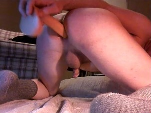 Pumping my butt with dildo