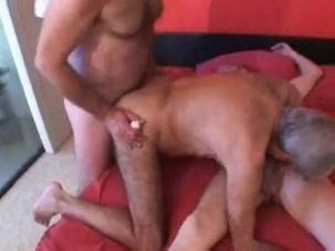 Mature Gay Couple Threesome