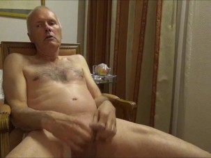 Grandpa watching porn, wanking..