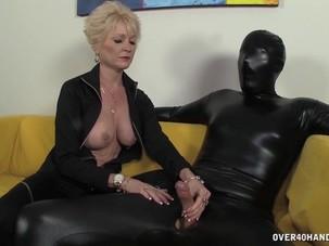 Dominant granny dominates her..