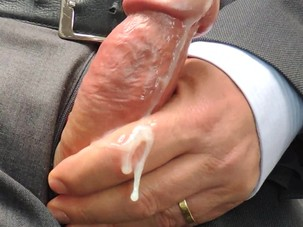 Jerking Off at Work Close up