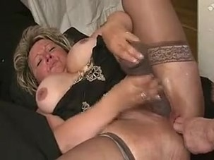 French chubby mature fisted