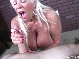 Old lady POV jerking