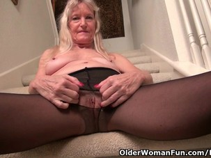 Granny Claire gets naughty on..