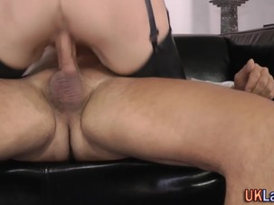 Jizz faced stockings brit