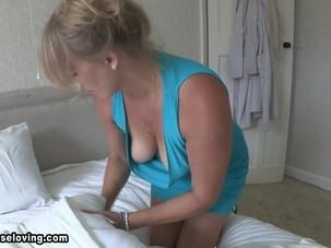 Melissa blonde mature big boobs..