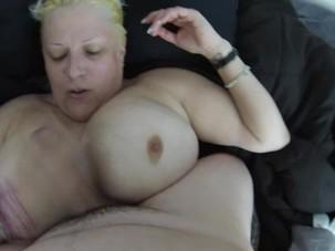 Big boob milf titfucked, hand..