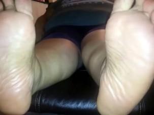 bbw feet soles mature cumshot