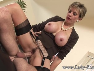 Lady Sonia fucks 2 guys gets..