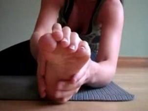 Yoga class feet