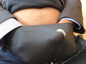 My Thick Sperm Through Underwear