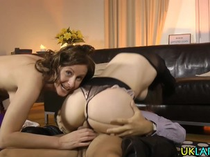 Stockings milf guzzles